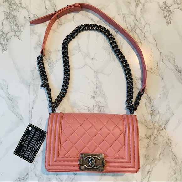 CHANEL Handbags - CHANEL Small Pink Le Boy Bag